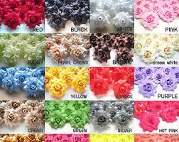 Wholesale Silk Flowers 24 Mini Silk Roses Heads Single Tone Artificial Silk Flower