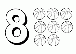 number coloring pages the number 8 miscellaneous coloring pages