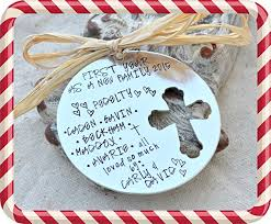 personalized tree ornament blended family