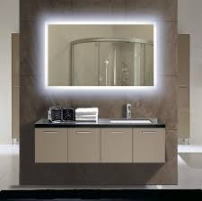 Bathroom Mirror With Lights Built In Brown Bathroom Decoration Using Modern Rectangular Led Bathroom