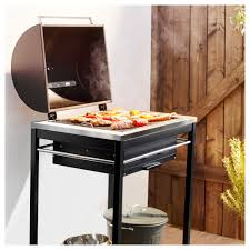 klasen charcoal grill black stainless steel barbecue smoker