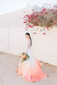 ombre wedding dress dip dye wedding ideas in ombré and coral hey wedding