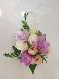Corsage Flowers Wrist Corsage Of Mixed Seasonal Flowers Occasions Buttonholes