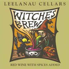 halloween wine labels leelanau wine cellars spiced wine or witches brew winecompass