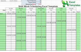 Employee Schedule Template Excel Rotation Schedule Template 6 Day 40 Hour 12 Hour Shiftwork