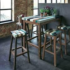 table bar de cuisine table haute design industriel cuisine amacnagace blanche cuisine