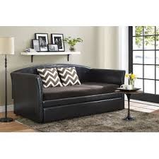 Black Daybed With Trundle Trundle Daybeds You Ll Wayfair