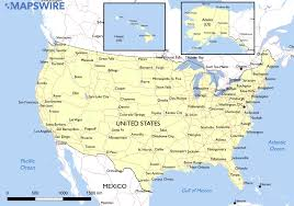 Us Mexico Map 10 Largest Us Cities Map Thempfaorg United States Map Map Of Us