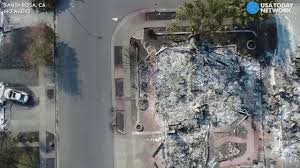 Wildfire California Video by Drone Video California Neighborhood Ruined By Wildfire Youtube