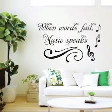 online shop zuczug art letters wall stickers words fail music