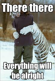 there there everything will be alright loving tiger quickmeme