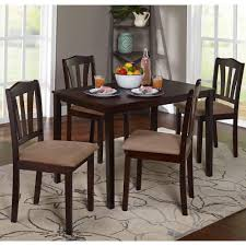 Square Dining Room Tables For 8 Mainstays 5 Piece Counter Height Dining Set Black Walmart Com