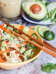 sesame ribbon asian salad with carrot sesame dressing gluten free