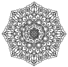 Mandala Flower Coloring Pages Difficult Free Coloring Pages For Mandala Flowers Coloring Pages