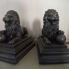 lion book ends antique and vintage bookends collectors weekly