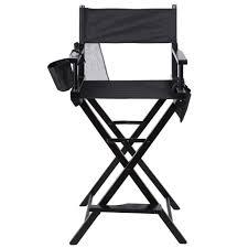professional makeup artist chair tangkula height makeup artist directors wood chair black ebay