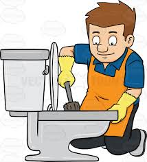clean emoji a man cleaning a toilet seat cartoon clipart vector toons