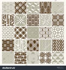 set vector endless geometric patterns composed stock vector