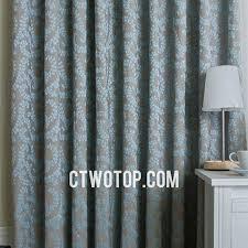 Blue Burlap Curtains Adorable Blue Burlap Curtains Decor With Unique Leaf Patterned