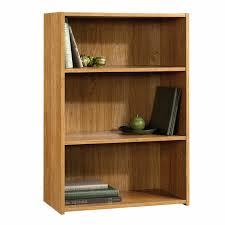 Bookshelves Oak by Sauder Beginnings 3 Shelf Wood Bookcase Oak Finish