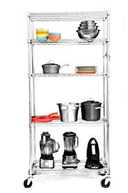 5 Tier Wire Shelving by Trinity Ecostorage 5 Tier Nsf Wire Shelving Rack With Wheels 36