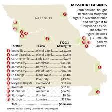 missouri casinos map missouri s casino industry turns 20 but is it a winner