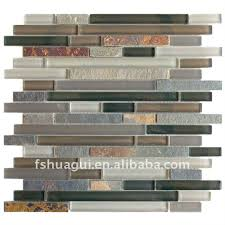 Color Forte Colorful Slate Tile by Bronze Aluminum Multi Color Slate Glass Backsplash Mosaic Slate