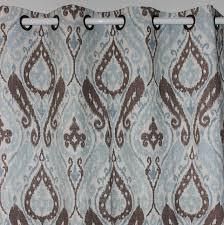 Blue Paisley Curtains New Light Blue Paisley Linen Window Ready Curtains Panel Door