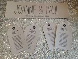 rustic shabby chic wedding table seating plan tags and or header