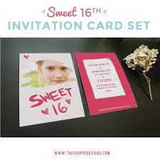 sweet 16th birthday invitation photoshop templates the shoppe