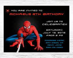 kids birthday party invitations u2013 spiderman birthday invitation