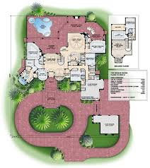mediterranean style house plans home floor with courtyards