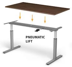 adjustable height c table pneumatic lift adjustable height base for standing desk smart