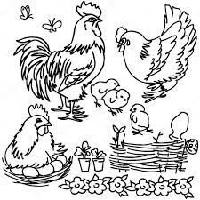 coloring book cartoon farm animals vegetables fruits and