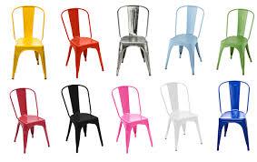 chaise m tallique chaises transparente chaise a métal couleur acier tolix déco design