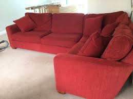 Red Corner Sofa by John Lewis Corner Sofa Matching Armchair Very Good Quality