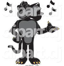 jaguar clipart vector of a cartoon black jaguar singing by toons4biz 11686