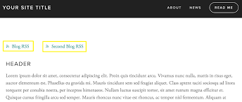 squarespace help using rss feeds