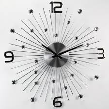 george nelson style silver metal wall clock modern style home