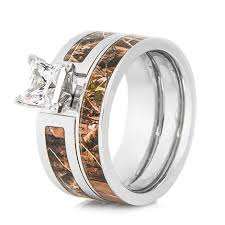 ring sets cobalt realtree camo wedding ring set titanium buzz