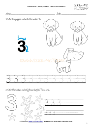tracing numbers worksheets number 3