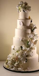 6 tier wedding cake with sugar flowers cascade wedding cake