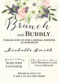 bridal brunch shower invitations watercolor brunch and bubbly bridal shower invitation bridal