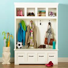 Entryway Cubbie Shelf With Coat Hooks Entry Storage Solutions