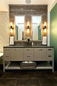 bathroom vanity light globes reclimed diy bathroom vanity light