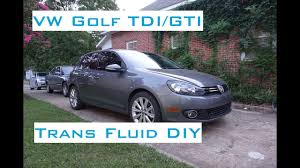 vw golf manual transmission fluid diy 2009 2014 youtube