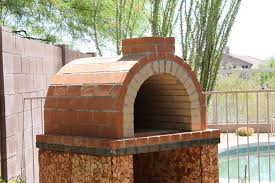 the louis family wood fired brick pizza oven in california patio