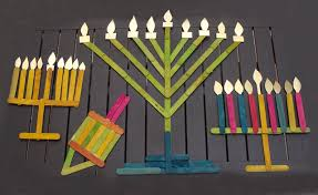 menorah for kids make chanukah decorations from popsicle sticks creative