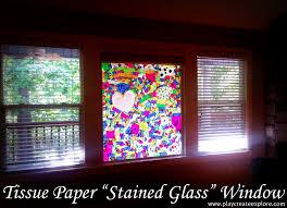 play create explore tissue paper