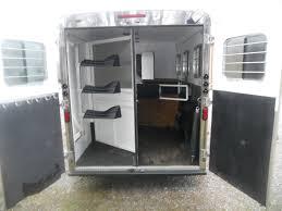 2007 american spirit 3 horse 8 u0027 living quarters gooseneck trailer